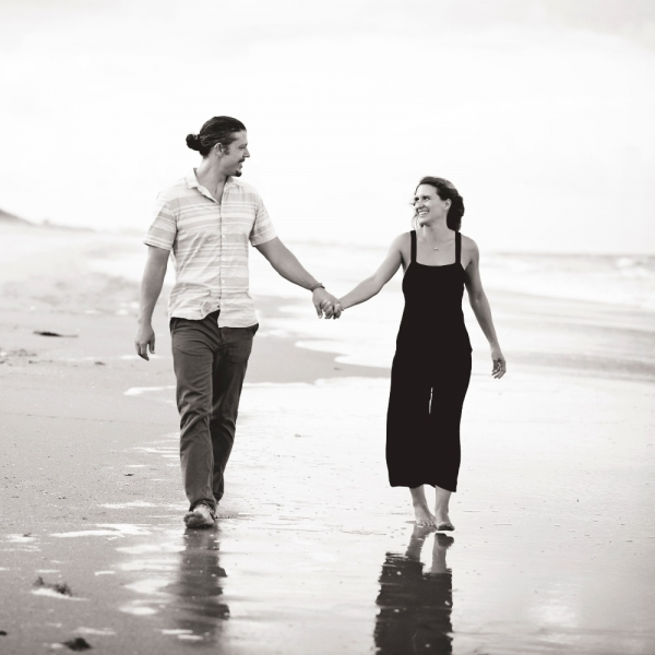 Melissa and Nick beach walk